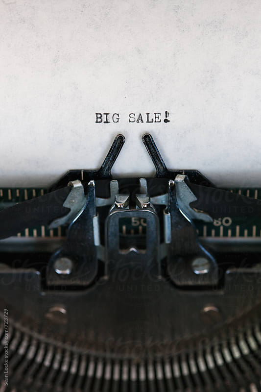 Typewriter: Typed Letters For Big Sale by Sean Locke for Stocksy United