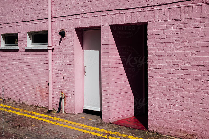 Pink House Facade Wall by Katarina Radovic for Stocksy United