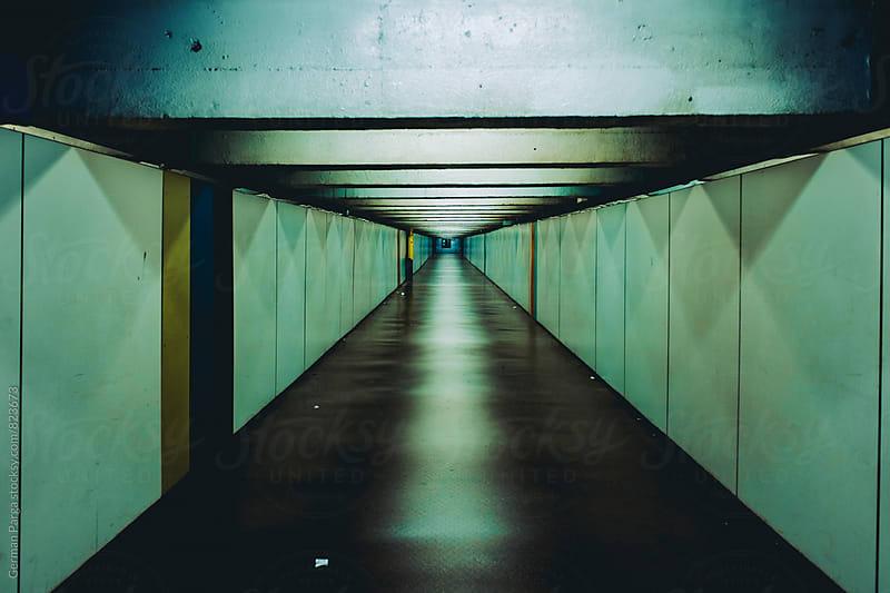 Dark subway tunnel by German Parga for Stocksy United