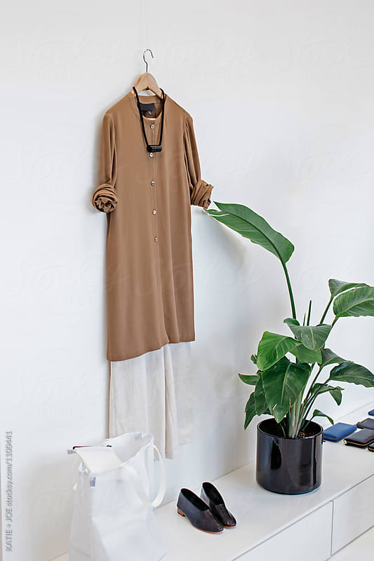 An outfit on display in a shop by KATIE + JOE for Stocksy United