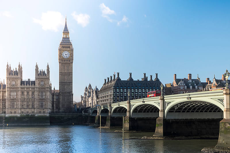 The Palace of Westminster. The meeting place of the House of Commons and the House of Lords, the two by Craig Holmes for Stocksy United