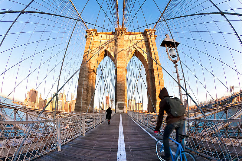 Brooklyn Bridge, New York City, New York, United States of America by Gavin Hellier for Stocksy United