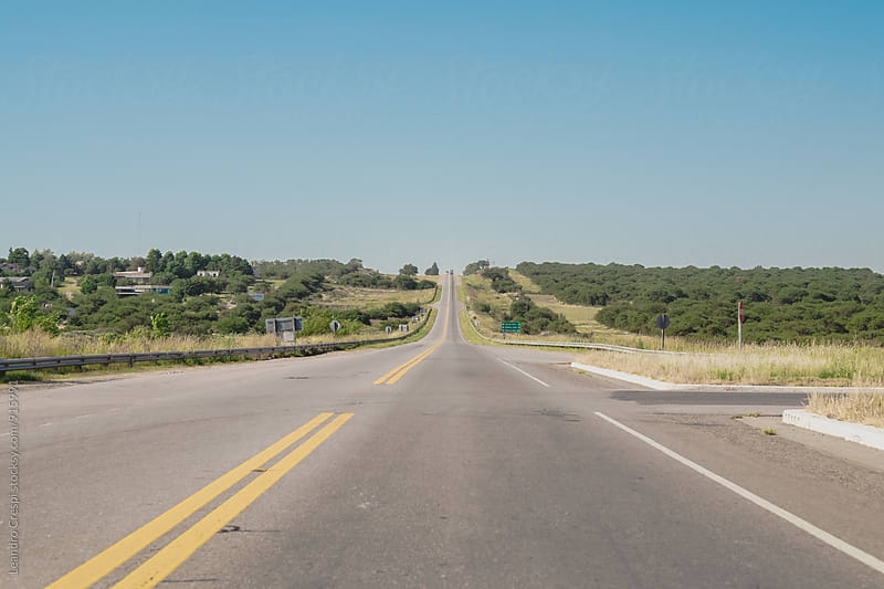 Landscape road scene, South of Argentina by Leandro Crespi for Stocksy United