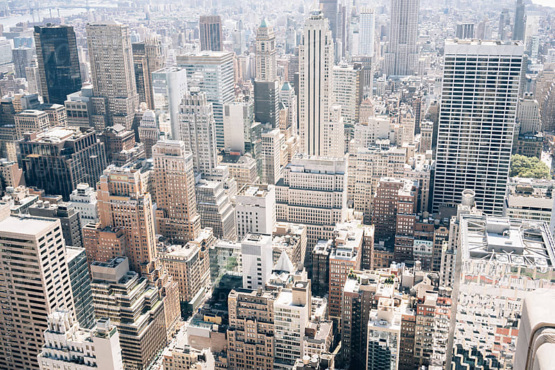 New York City from Above by Austin Rogers for Stocksy United