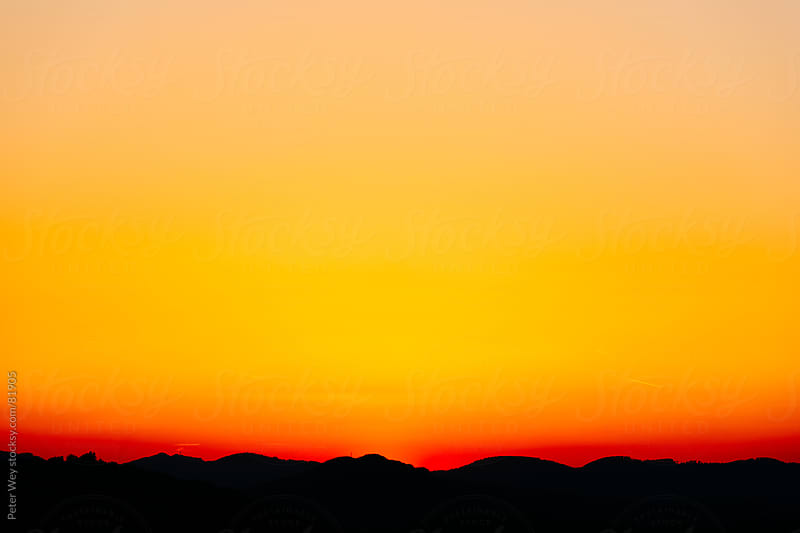 sunset silhouette by Peter Wey for Stocksy United