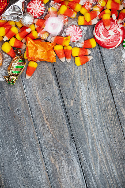 Halloween: Fun Candy Holiday Background by Sean Locke for Stocksy United