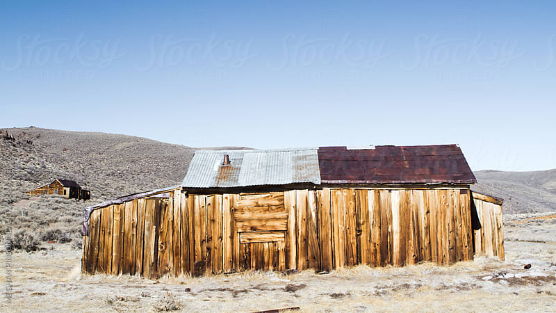 Creepy Ghost Town Building from the Gold Rush by MEGHAN PINSONNEAULT for Stocksy United