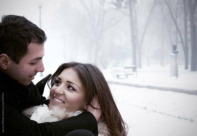 Happy loving couple in park by Jovana Rikalo for Stocksy United