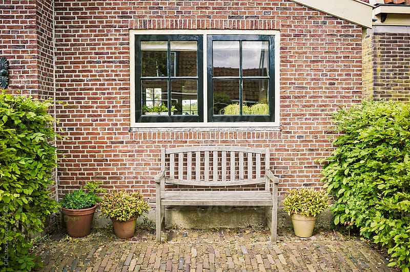 Typical House And Courtyard in Holland by GIC for Stocksy United