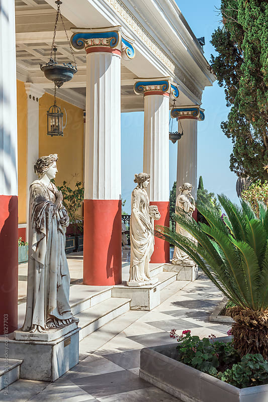 Column of Muses in Achillion palace. Corfu, Greece. by Paul Phillips for Stocksy United