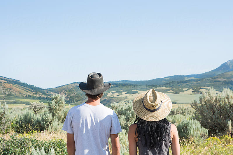 Closeup from Behind of Couple Enjoying View Together by MEGHAN PINSONNEAULT for Stocksy United
