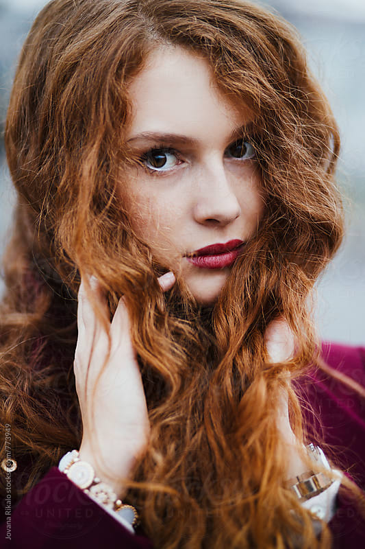 Beautiful young woman with freckles and ginger hair by Jovana Rikalo for Stocksy United