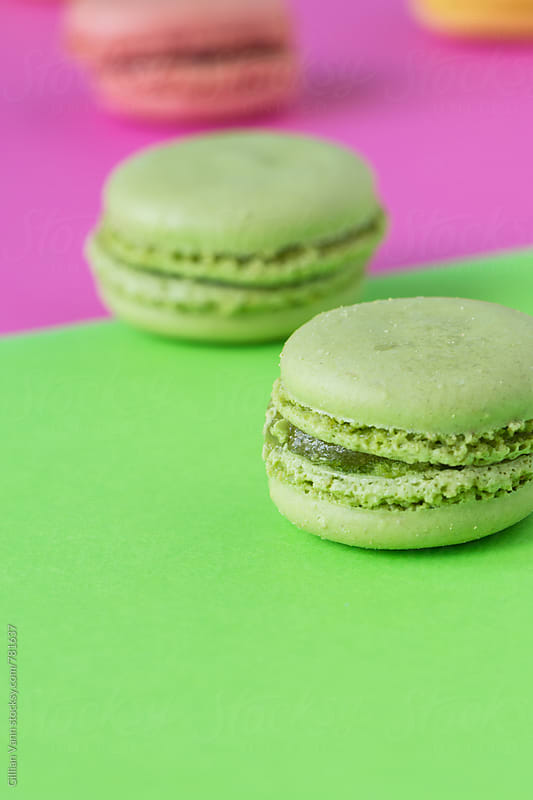 macaron sweet biscuit, green on green by Gillian Vann for Stocksy United