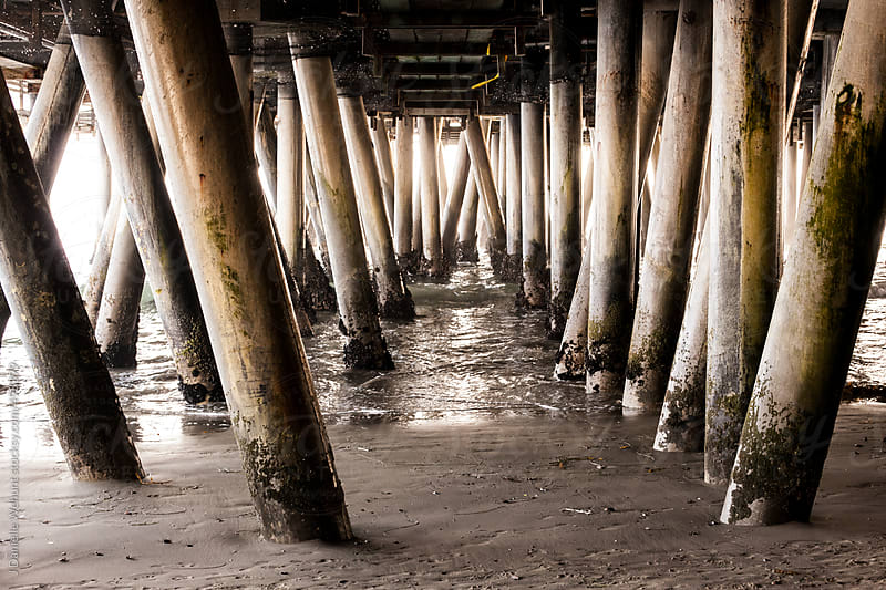 Under Santa Monica Pier by J Danielle Wehunt for Stocksy United