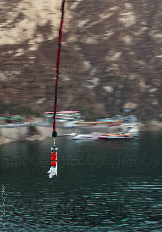Bungee jumping by zheng long for Stocksy United