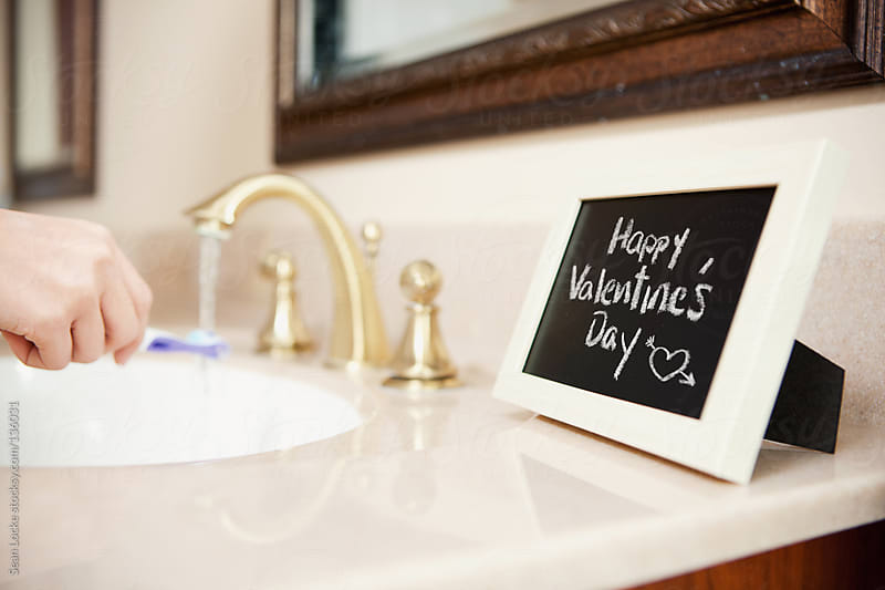 Valentine's: Holiday Note On Small Chalkboard by Sean Locke for Stocksy United