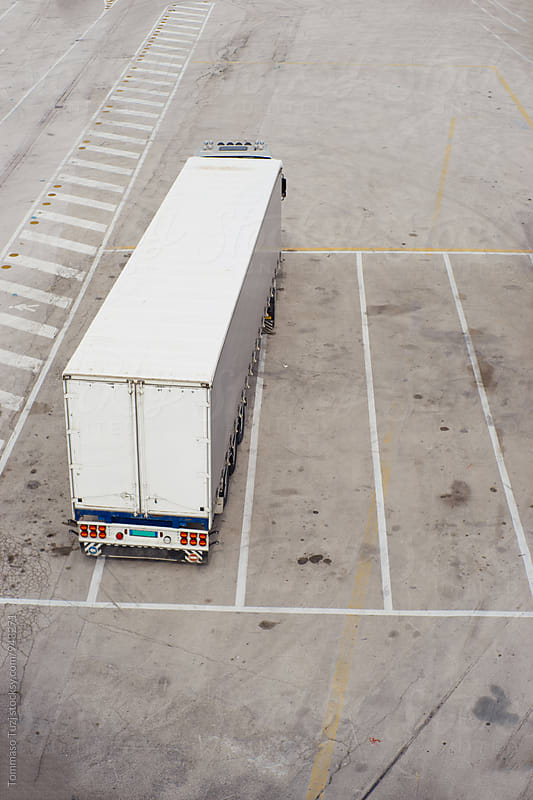 Truck parked  by Tommaso Tuzj for Stocksy United