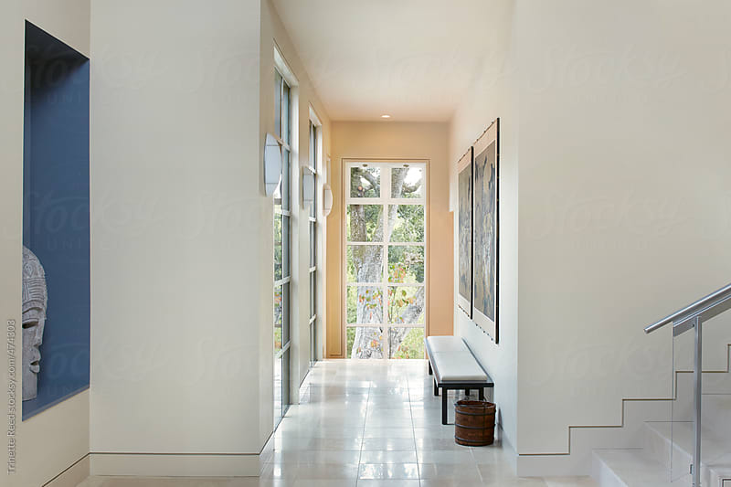 Hallway in luxury home  by Trinette Reed for Stocksy United