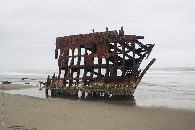 The wreck of Peter Iredale by Justin Mullet for Stocksy United