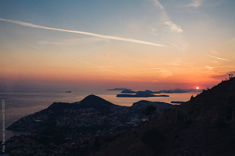 Sunset in Dubrovnik by Maja Topcagic for Stocksy United