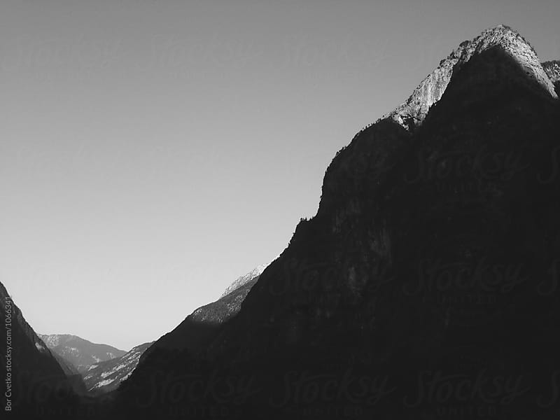 Valley and the mountain by Bor Cvetko for Stocksy United