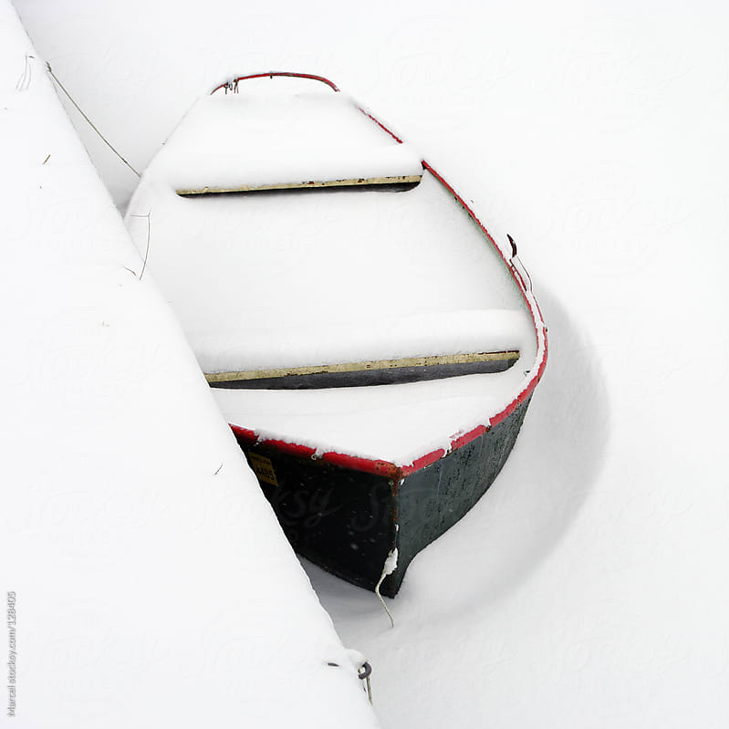 Boat in the snow by Marcel for Stocksy United