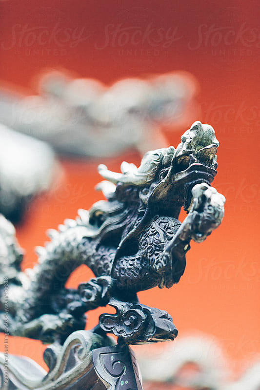 Dragon in a Buddhist Temple by Good Vibrations Images for Stocksy United