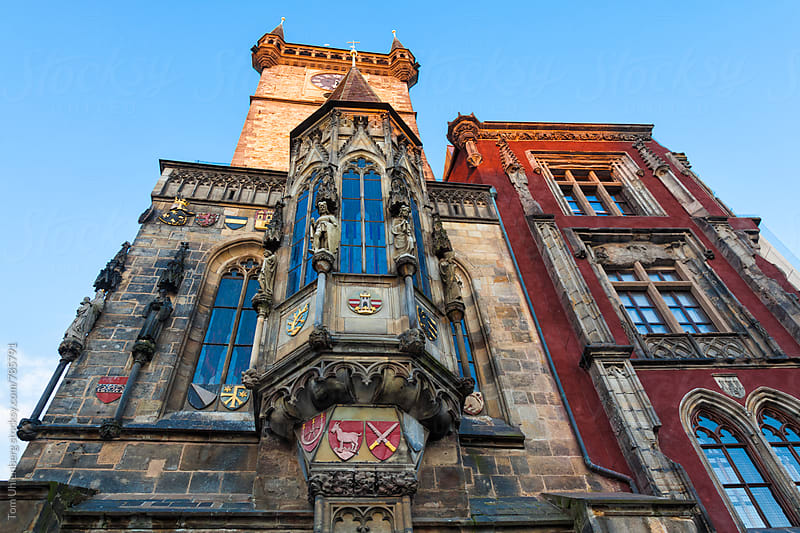 Gothic Facade of the Old Town City Hall in Prague, the Czech Republic by Tom Uhlenberg for Stocksy United