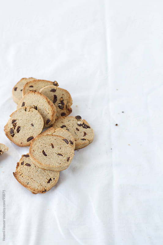 Chocolate chip cookies by Noemi Hauser for Stocksy United