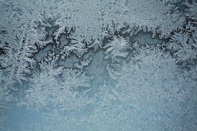 Frost Crystals On A Window by ALICIA BOCK for Stocksy United
