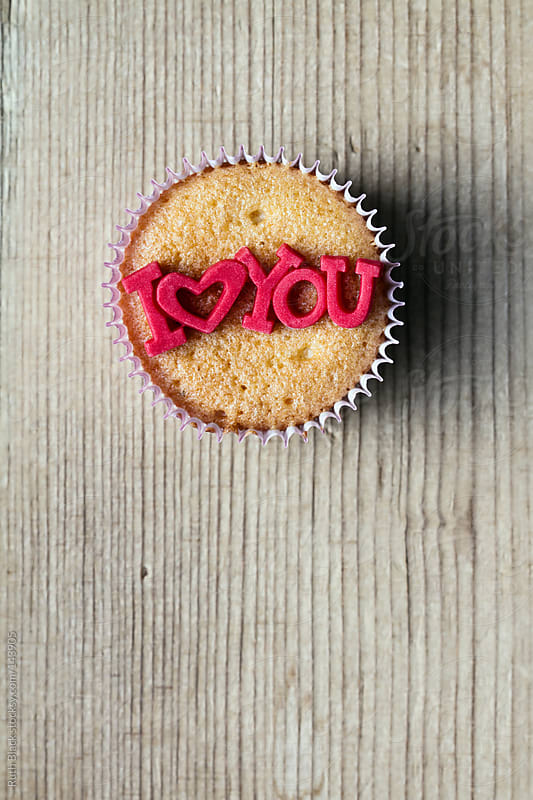 I Love You cupcake by Ruth Black for Stocksy United