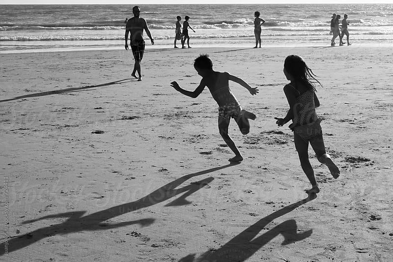 Funny sunset beach by Juanjo Grau for Stocksy United