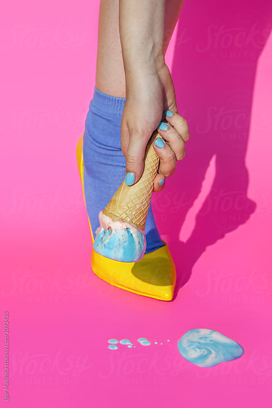fashion,food,summer,colorful, urban girl on summer vacation by Igor Madjinca for Stocksy United