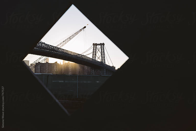 Williamsburg bridge in a frame, NYC by Simone Becchetti for Stocksy United