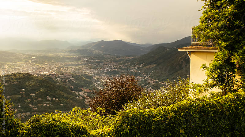 View from Brunate overlooking Como, Italy by Gary Radler Photography for Stocksy United
