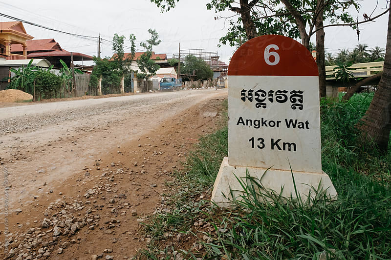 Sign to Angkor Wat by Rowena Naylor for Stocksy United