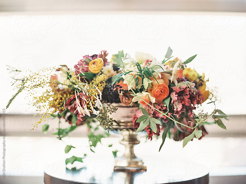 Spring floral Arangement  by Vicki Grafton Photography for Stocksy United