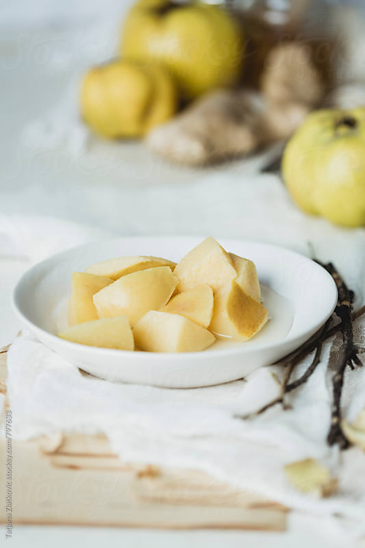 Quince compote with ginger by Tatjana Ristanic for Stocksy United