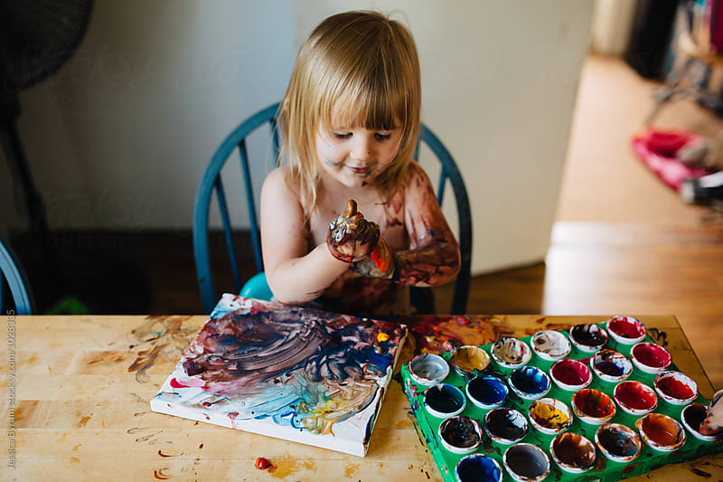 Messy Hands by Jessica Byrum for Stocksy United