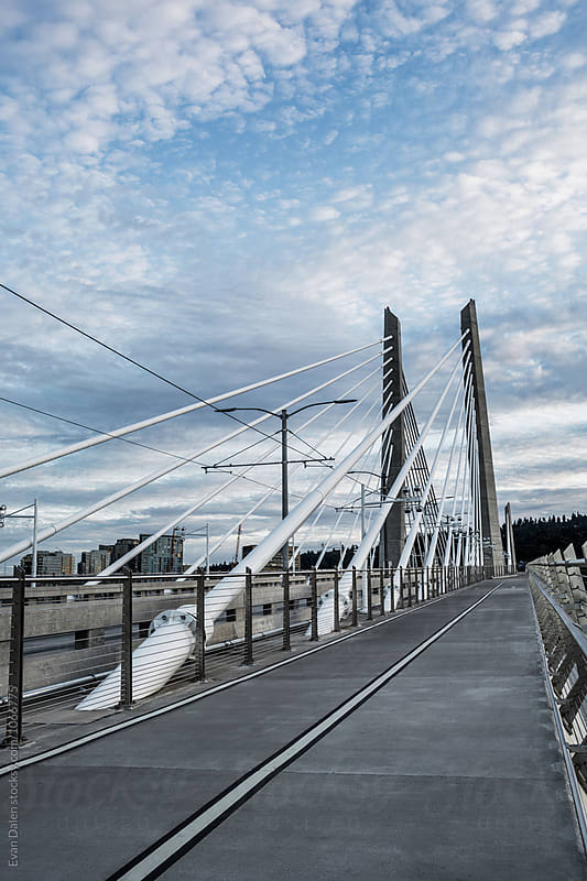 Tillikum Crossing Bridge in Portland, Oregon by Evan Dalen for Stocksy United