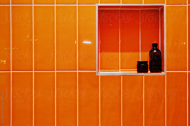 Orange Shower Interior by WAA for Stocksy United