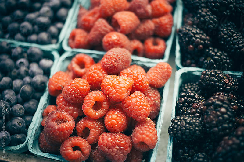 Berries at the market by Danny Pellissier for Stocksy United