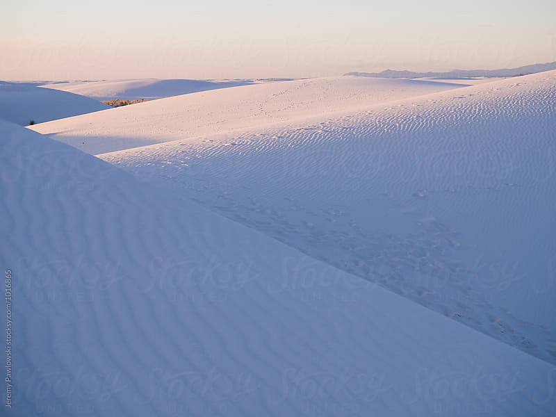 Purple glow from sunset at white sands new mexico by Jeremy Pawlowski for Stocksy United