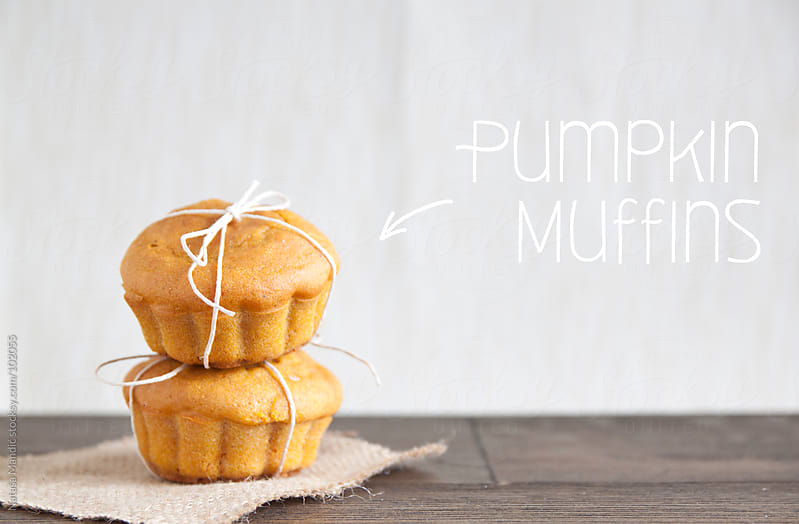 Homemade Pumpkin Muffins by Nataša Mandić for Stocksy United