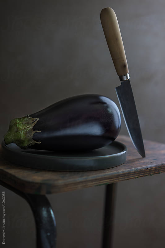Aubergine still life. by Darren Muir for Stocksy United