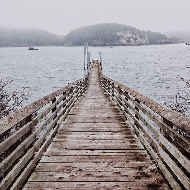 Dock on a Cold Winter Day by Jesse Weinberg for Stocksy United