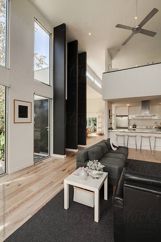Modern interior of luxury home by Rowena Naylor for Stocksy United
