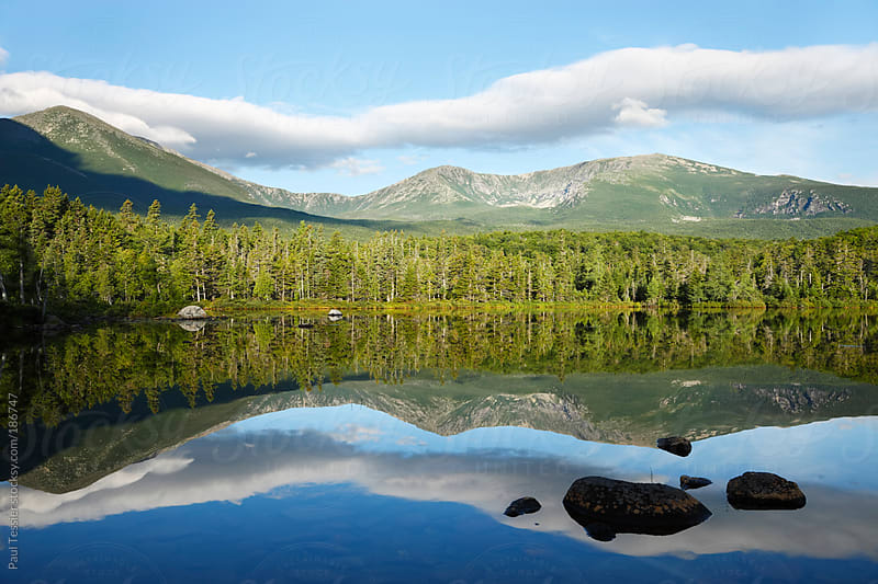 Mount Katadin located in the State of Maine by Paul Tessier for Stocksy United