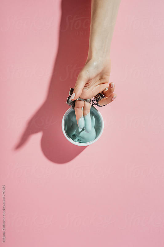 Ice cream melting by Tatjana Zlatkovic for Stocksy United