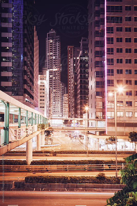 Night Scene In Hong Kong by minamoto images for Stocksy United
